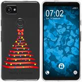 Google Pixel 2 XL Silikon-Hülle X Mas Weihnachten  M1