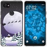 Google Pixel 2 XL Silicone Case Christmas X Mas M5