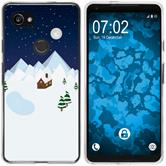 Google Pixel 2 XL Silikon-Hülle X Mas Weihnachten  M6