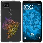 Google Pixel 2 XL Silikon-Hülle Floral  M2-3