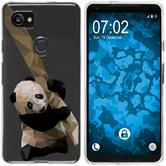 Google Pixel 2 XL Silicone Case vector animals Panda M4