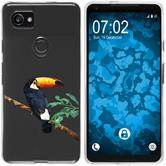 Google Pixel 2 XL Silicone Case vector animals M5