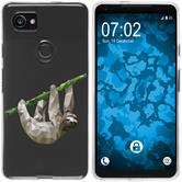 Google Pixel 2 XL Silicone Case vector animals sloth M6