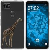 Google Pixel 2 XL Silicone Case vector animals M8