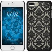 Hardcase for Apple iPhone 7 Plus Damask black