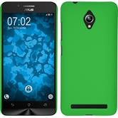 Hardcase for Asus Zenfone Go (ZC500TG) rubberized green