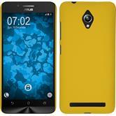 Hardcase for Asus Zenfone Go (ZC500TG) rubberized yellow