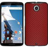 Hardcase for Google Motorola Nexus 6 carbon optics red