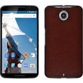 Hardcase for Google Motorola Nexus 6 leather optics brown