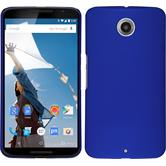 Hardcase for Google Motorola Nexus 6 rubberized blue