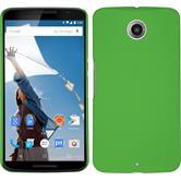 Hardcase for Google Motorola Nexus 6 rubberized green