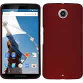 Hardcase for Google Motorola Nexus 6 rubberized red