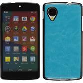 Hardcase for Google Nexus 5 leather optics blue