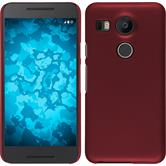 Hardcase for Google Nexus 5X rubberized red