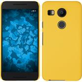 Hardcase for Google Nexus 5X rubberized yellow