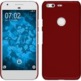 Hardcase for Google Pixel rubberized red