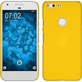 Hardcase for Google Pixel rubberized yellow