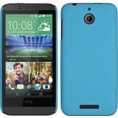 Hardcase for HTC Desire 510 rubberized light blue