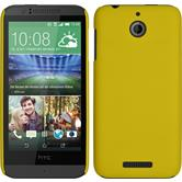 Hardcase for HTC Desire 510 rubberized yellow