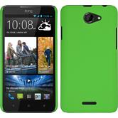 Hardcase for HTC Desire 516 rubberized green