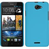Hardcase for HTC Desire 516 rubberized light blue