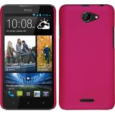 Hardcase for HTC Desire 516 rubberized pink