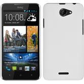 Hardcase for HTC Desire 516 rubberized white