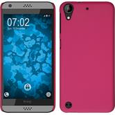 Hardcase for HTC Desire 630 rubberized hot pink