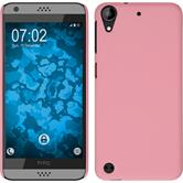 Hardcase for HTC Desire 630 rubberized pink