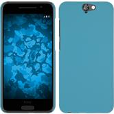 Hardcase for HTC One A9 rubberized light blue