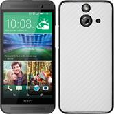 Hardcase for HTC One E8 carbon optics white