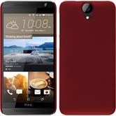 Hardcase for HTC One E9+ rubberized red