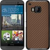 Hardcase for HTC One M9 carbon optics bronze