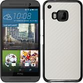Hardcase for HTC One M9 carbon optics white