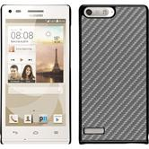 Hardcase for Huawei Ascend P7 Mini carbon optics silver