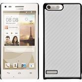 Hardcase for Huawei Ascend P7 Mini carbon optics white