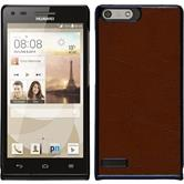 Hardcase for Huawei Ascend P7 Mini leather optics brown