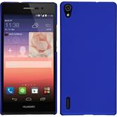 Hardcase for Huawei Ascend P7 rubberized blue