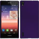 Hardcase for Huawei Ascend P7 rubberized purple