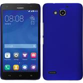 Hardcase for Huawei Honor 3X G750 rubberized blue