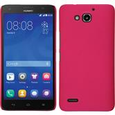 Hardcase for Huawei Honor 3X G750 rubberized hot pink