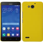 Hardcase for Huawei Honor 3X G750 rubberized yellow