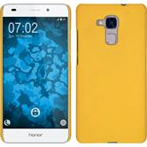 Hardcase for Huawei Honor 5C rubberized yellow