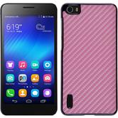 Hardcase for Huawei Honor 6 carbon optics hot pink