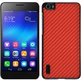 Hardcase for Huawei Honor 6 carbon optics red