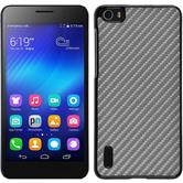 Hardcase for Huawei Honor 6 carbon optics silver