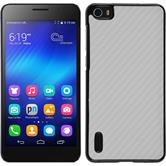 Hardcase for Huawei Honor 6 carbon optics white