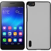 Hardcase for Huawei Honor 6 leather optics white