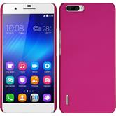 Hardcase for Huawei Honor 6 Plus rubberized hot pink