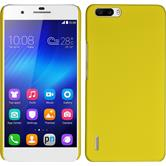 Hardcase for Huawei Honor 6 Plus rubberized yellow